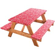 Fanciful Flowers Deluxe Picnic Table Cover by Miles Kimball