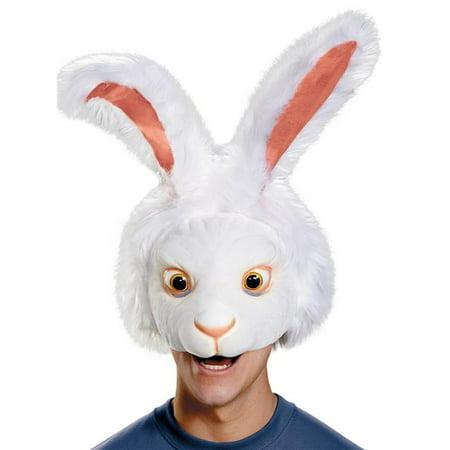 White Rabbit Headpiece Adult - White Rabbit Costume Adult