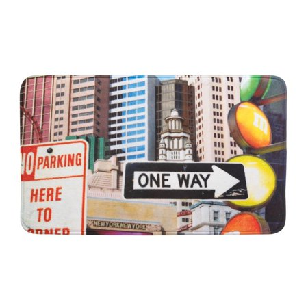 Floor Mat Indoor, City Traffic Signs House Porch Decorative Indoor Floor Mat ()