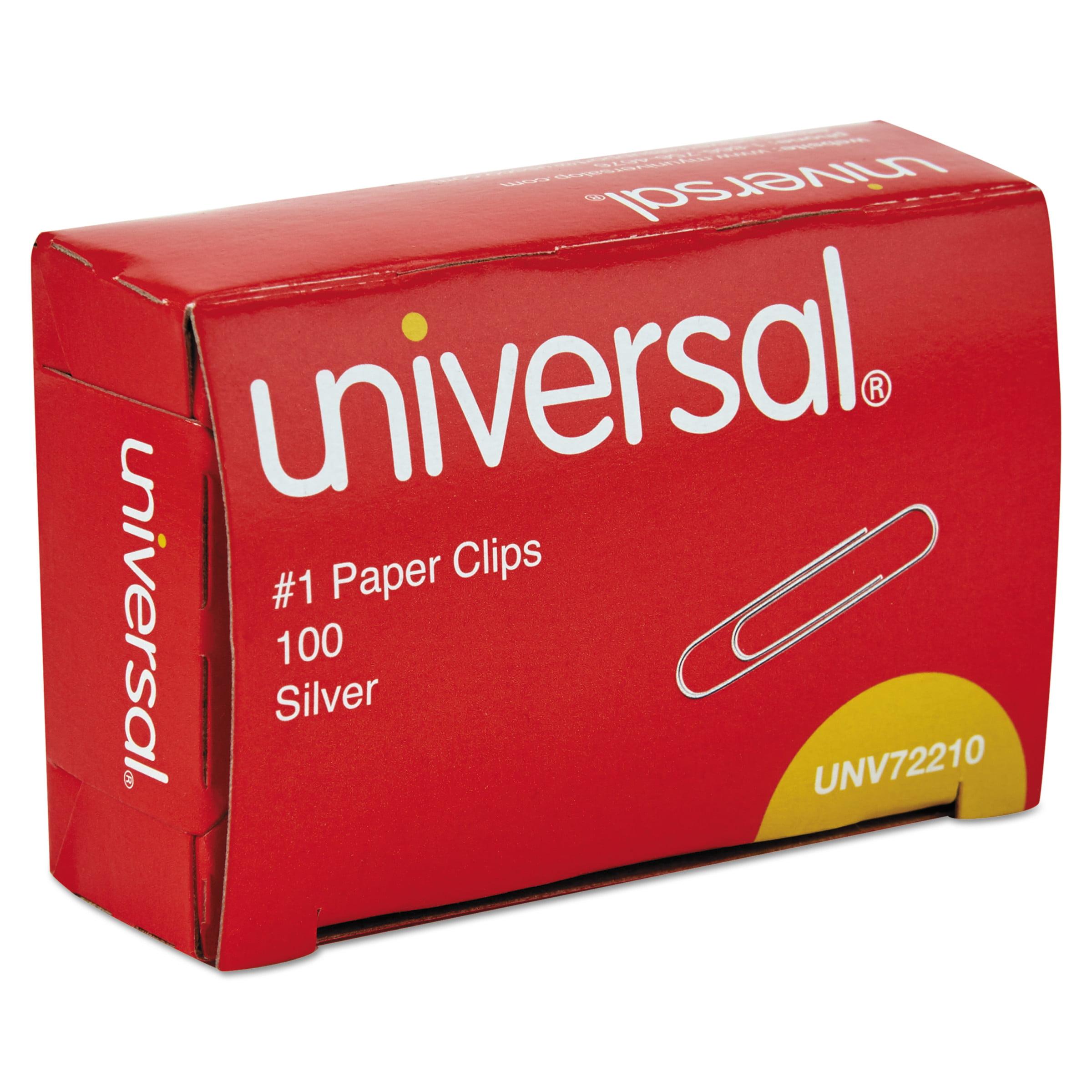Universal Paper Clips, No. 1, Smooth, Silver, 12PK/Carton -UNV72210CT