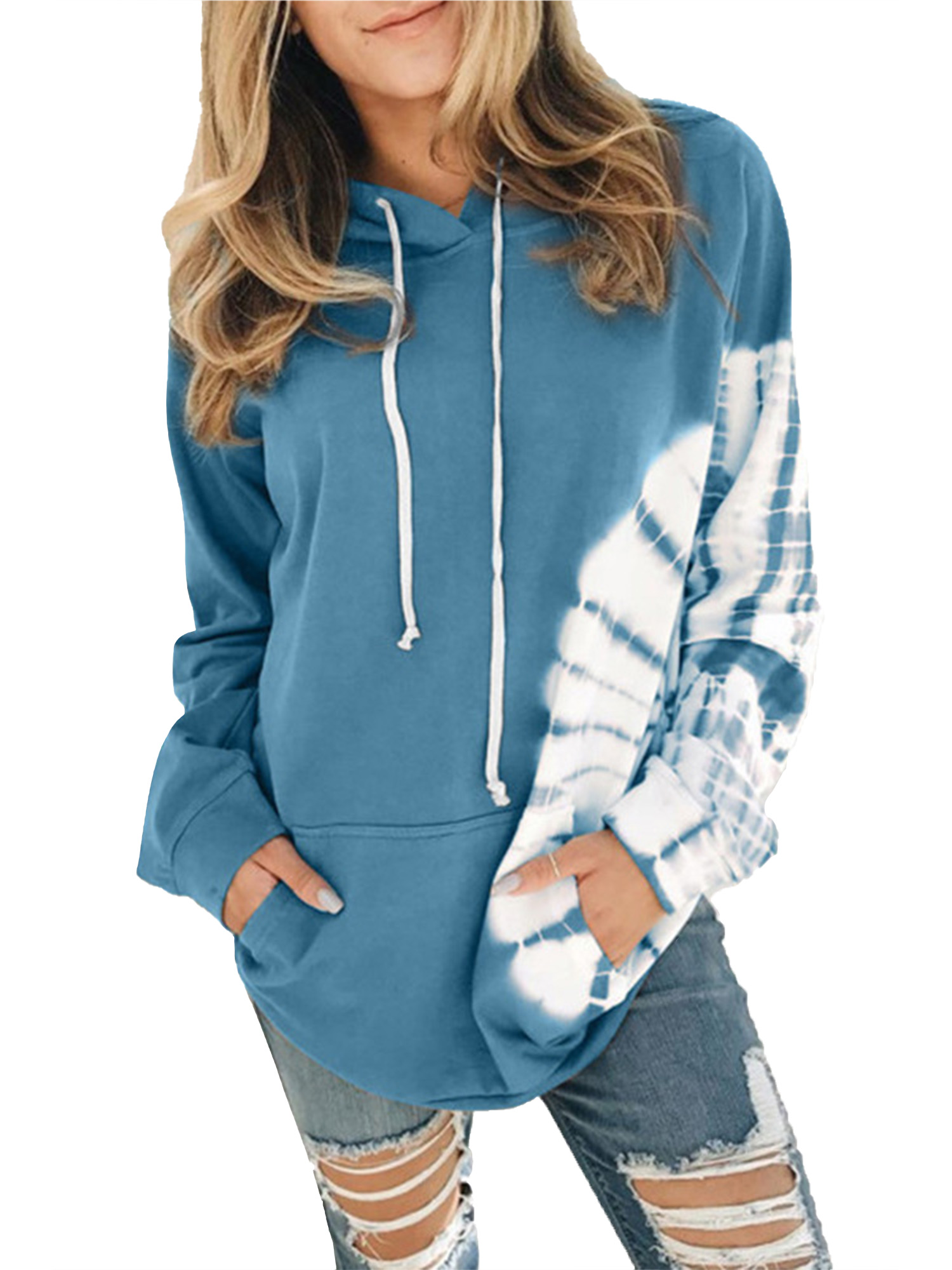 Womens Winter Fleece Hoodies Sweatshirt Hooded Jumper Pullover Loose Tunic Tops