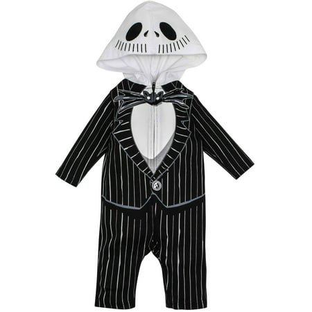 Nightmare Before Christmas Jack Skellington Baby Boys' Hooded Costume Coverall (12-18 Months) - Jack Skellington Kid Costume