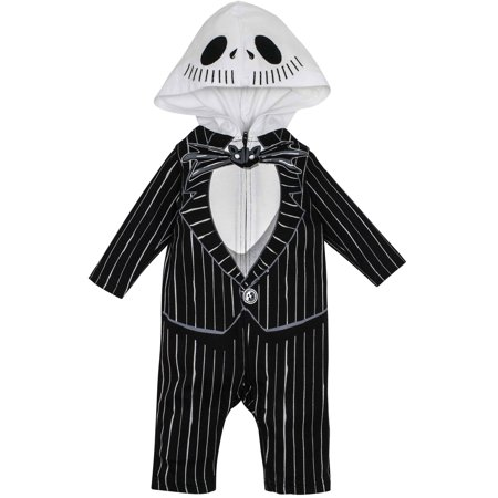 Nightmare Before Christmas Jack Skellington Baby Boys' Hooded Costume Coverall (12-18 Months) - Baby Boy Prince Charming Costume