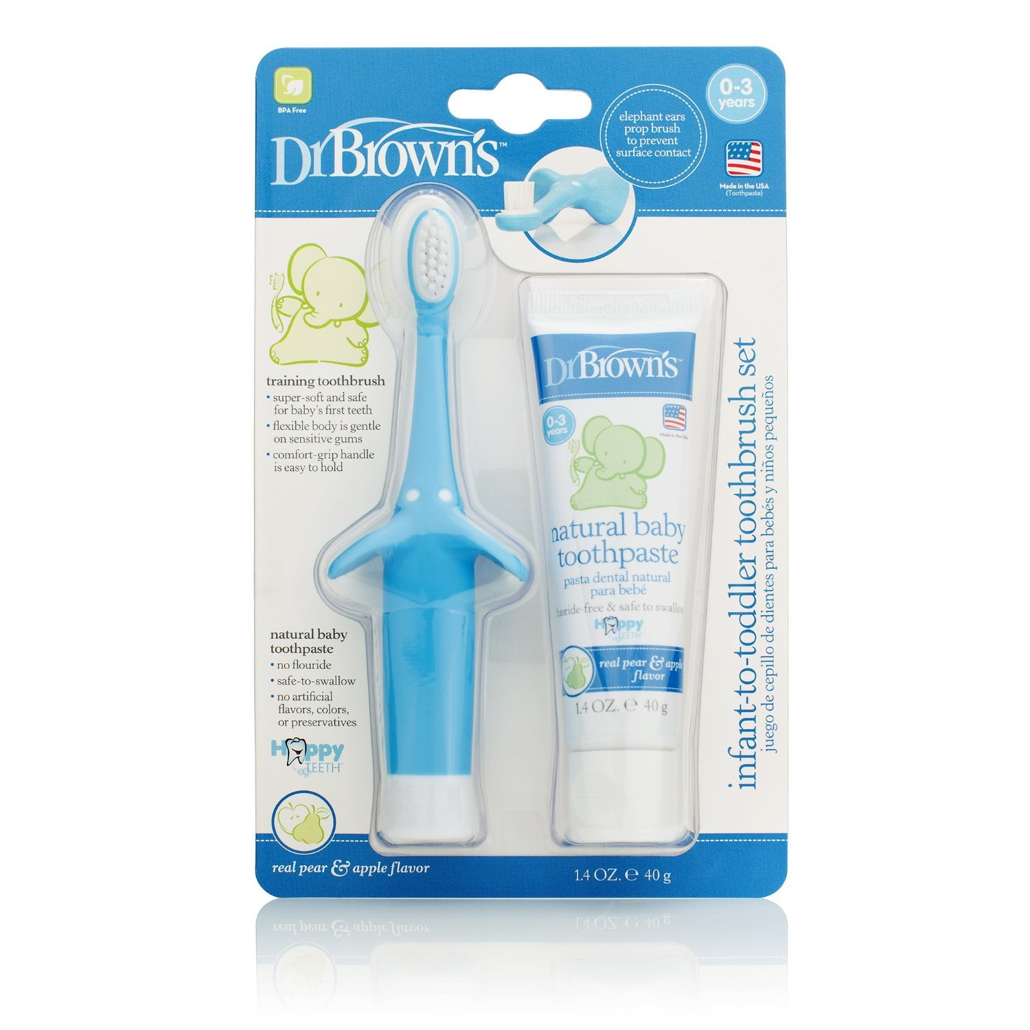 Dr. Brown's Infant Toothbrush and Toothpaste Combo Pack - Pink