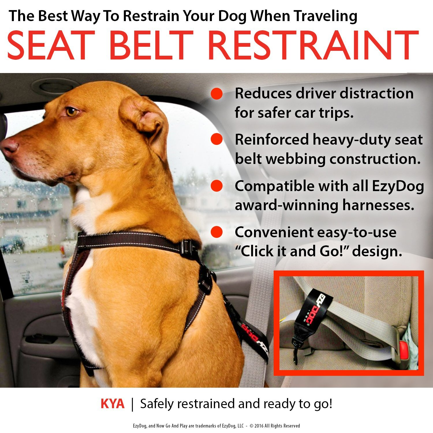 Dog Seat Belt Harness >> Universal Dog Car Restraint Seat Belt Pet Safety Lead Vehicle Seatbelt Harness Attachment Made From Nylon Fabric Simple Click It And Go Design