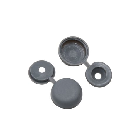100pcs Gray Hinged Plastic Clips Screw Fold Caps Cover 4mm for Auto Car Decor - image 2 of 2