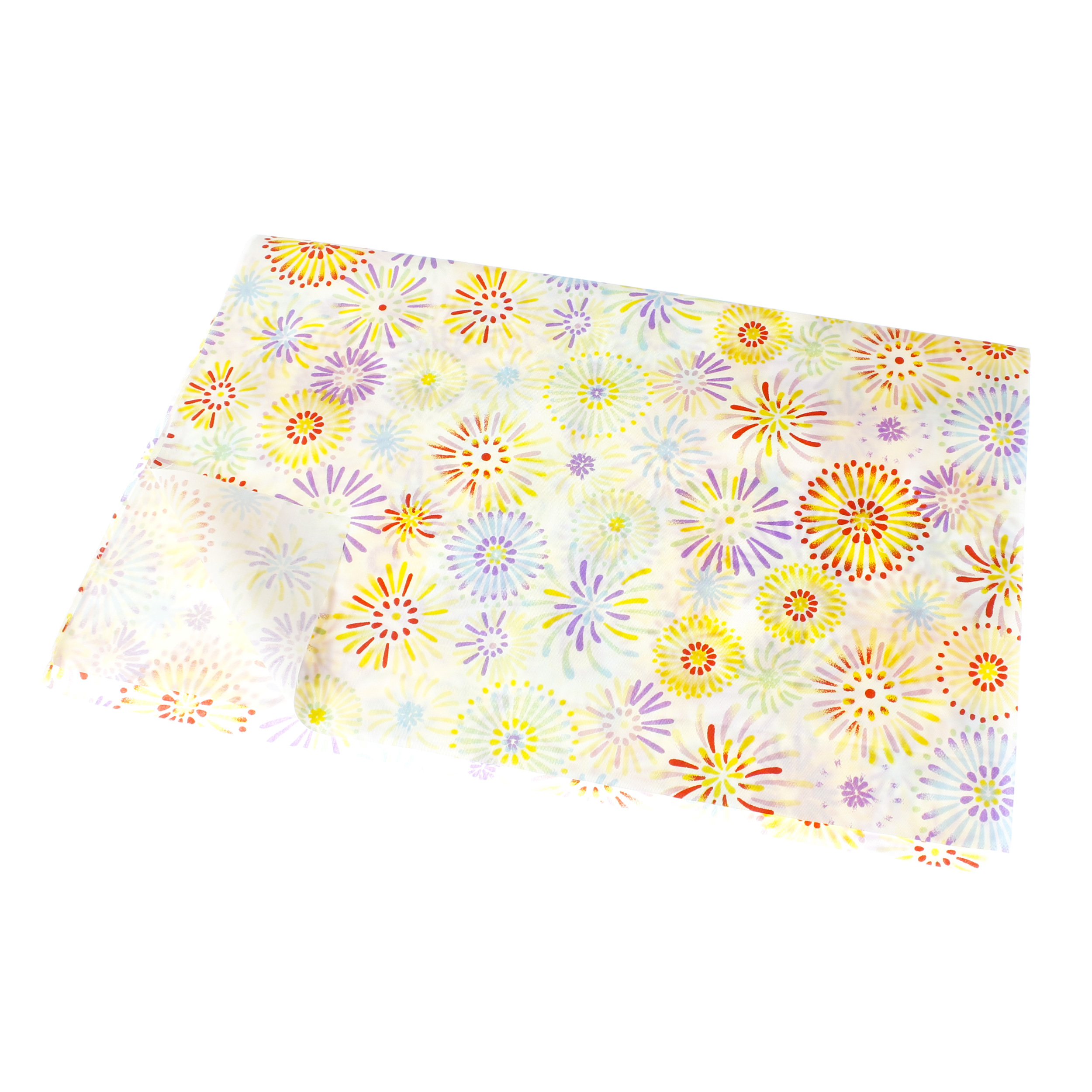 a fat quarter cotton quilt Dots fabric sheets for craft bag purse face mask white and yellow