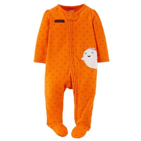 carters infant girls happy halloween ghost sleep play pajama sleeper