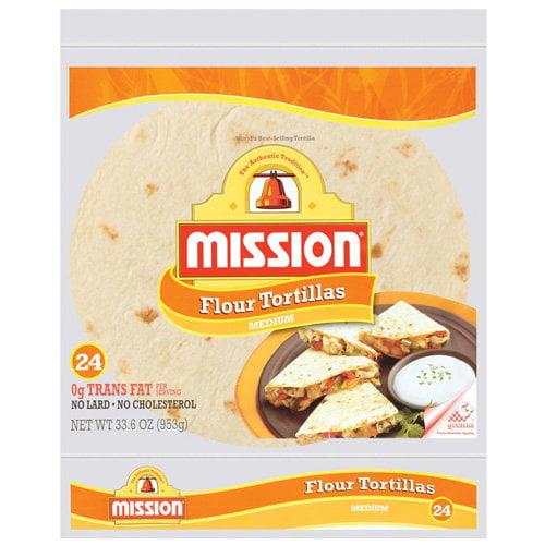 Mission Medium Taco Size Flour Tortillas, 24ct