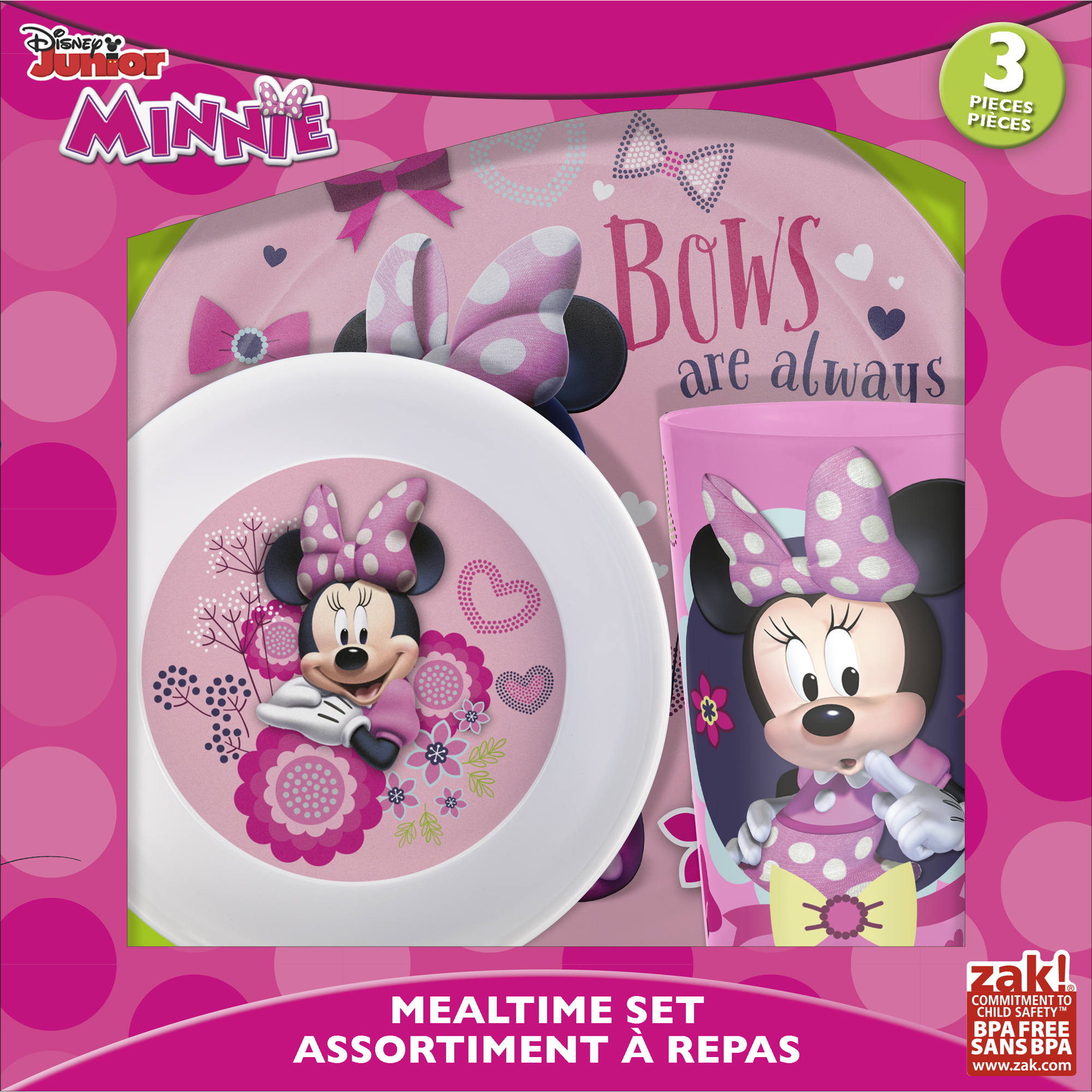 Minnie Mouse 3-piece Kids Dinnerware Set by Zak!