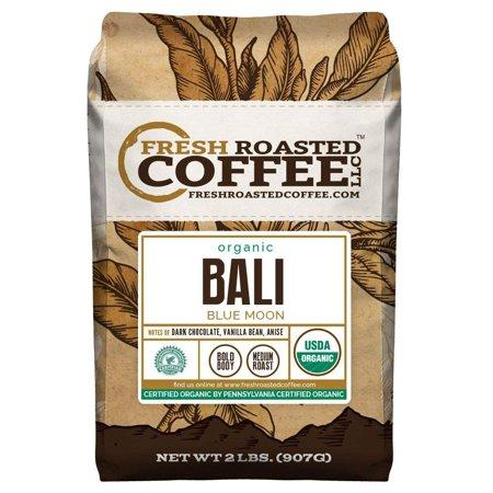 Plantation Organic Coffee (Bali Blue Moon Organic, Rain Forest Alliance, Whole Bean coffee, Fresh Roasted Coffee LLC. (2 lb.))