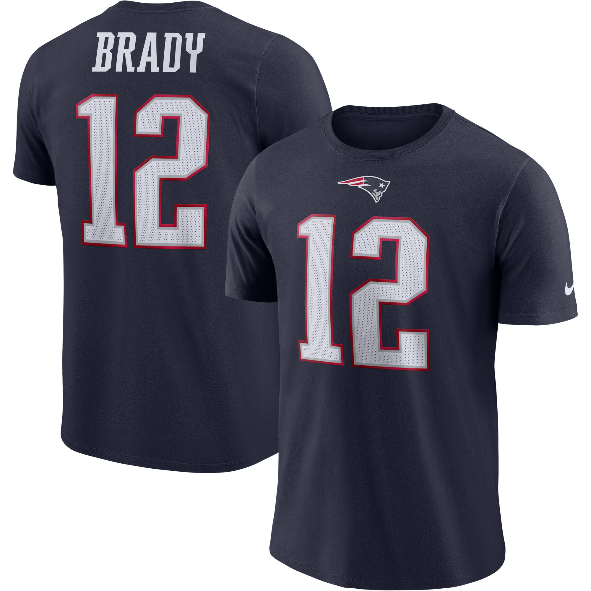 Tom Brady New England Patriots Nike Player Pride Name & Number Performance T-Shirt - Navy