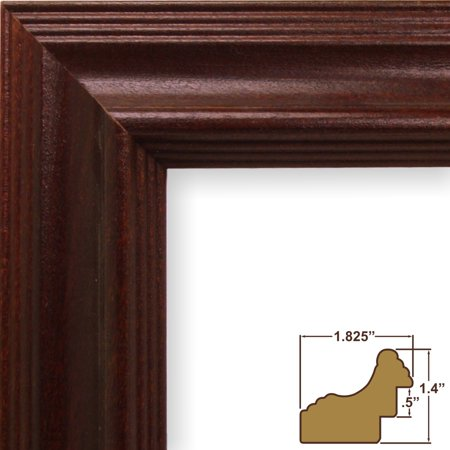 Traditional Wood Frame Natural (Craig Frames Wiltshire 262, Traditional Dark Cherry Red Solid Wood Picture Frame, 11 x 14 Inch)