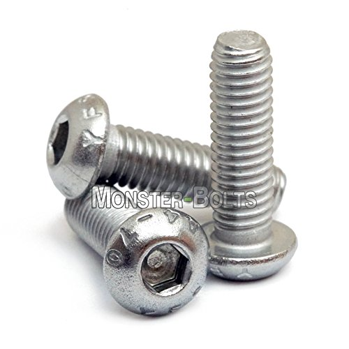 18-8 Button Head Socket Cap Screws Metric 11 pcs Hex Socket Drive ISO 7380-1 AISI 304 Stainless Steel Aspen Fasteners M8-1.25 X 40mm
