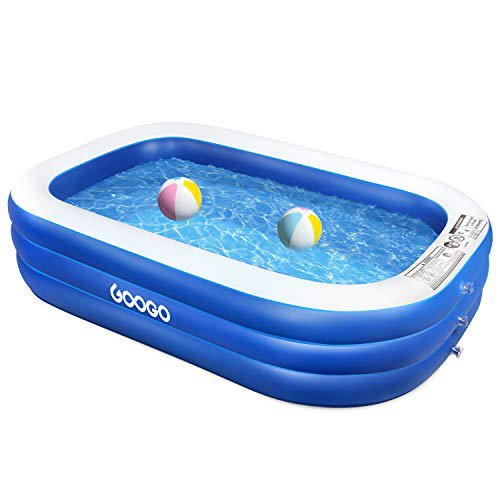 Googo Family Inflatable Swimming Pool 92x56x20 Inch Full Sized Inflatable Lounge Above Ground Pool For Kiddie Kids Toddlers Adults Easy Set Swimming Pool For Backyard Summer Water Part Walmart Com Walmart Com