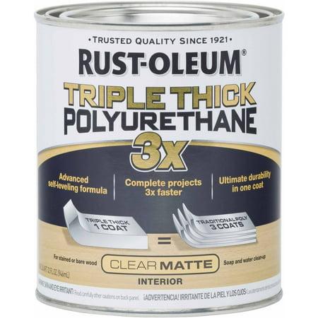 Rust-Oleum Triple Thick Matte Polyurethane, Quart