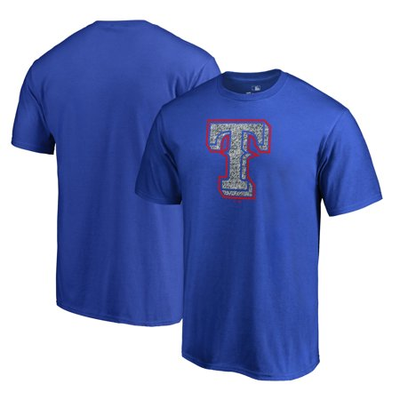 Texas Rangers Fanatics Branded Static Logo T-Shirt - Royal - Ranger De Texas