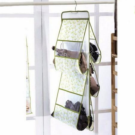 5 Pocket Shelf Bags Purse Handbags Organizer Wall Hanging Storage Closet Hanger