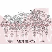 """Woodware Clear Stamps 3.5""""X5.5""""-Flowers In A Row"""