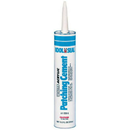 White Cement (Acrylic Patching Cement, 10.5 oz. Size, White Color, Container Type:)