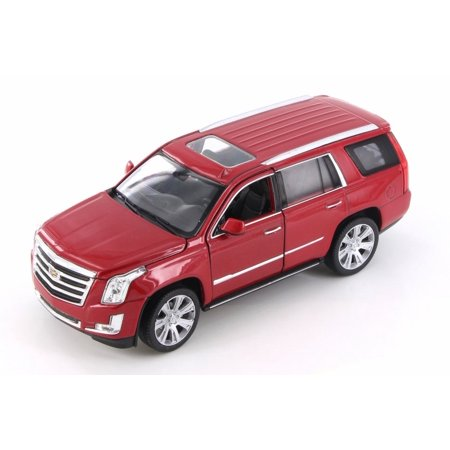 2017 Cadillac Escalade, Red - Welly 24084/4D - 1/24 Scale Diecast Model Toy Car (Brand New but NO (Cadillac Escalade Models)
