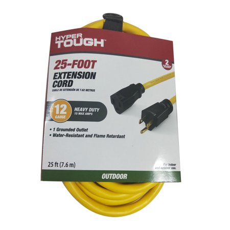 25ft Modular Extension Cord - Hyper Tough 25FT 12/3 Extension Cord Yellow For Outdoor Use