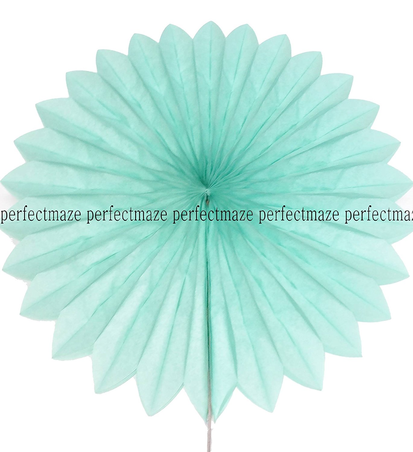 Perfectmaze 5 Piece 14 Inch Tissue Paper Pinwheel Hanging Fan for Wedding Party Engagement Baby Shower Decoration (Mint) By Perfect Maze