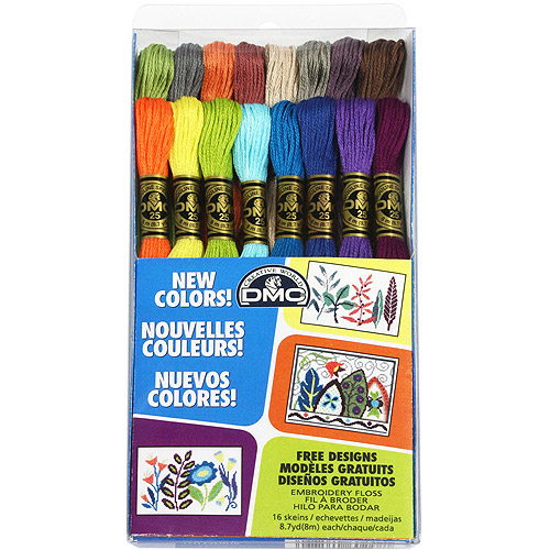 DMC Embroidery Floss Pack New Colors 16pc