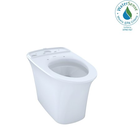 Toto  Maris Universal Height Elongated Skirted Toilet Bowl with CeFiONtect, Cotton White (CT484CEFG#01)