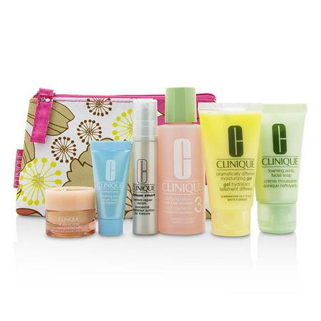 Clinique - Travel Set: Facial Soap 30ml+Lotion 3 60ml+DDMG 30ml+Smart Serum 10ml+Turnaround Serum 7ml+All About Eyes 7ml+Bag