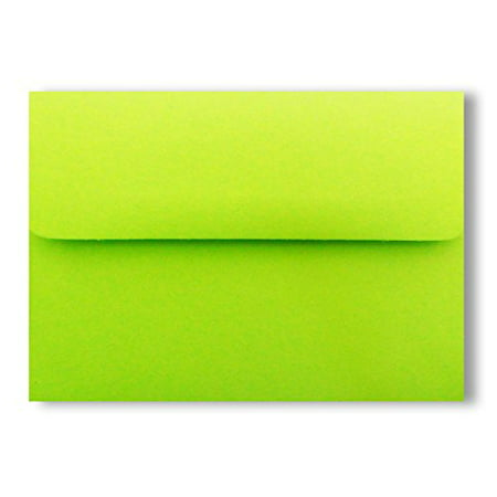 25 Bright Lime Green Square Flap A1 Envelopes (3-5/8 X 5-1/8) for 3-3/8 X 4-7/8 Response Enclosure Invitation Announcement Wedding Shower Communion Christening Cards By -