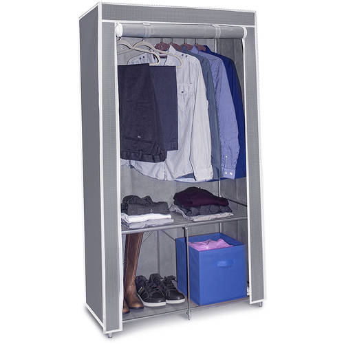 Sorbus Wardrobe Closet Portable Non-Woven Fabric Free Standing Storage Organizer, Portable, Detachable and Lightweight Clothing Closet