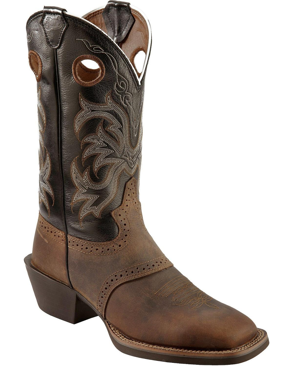 justin boots for men bootie