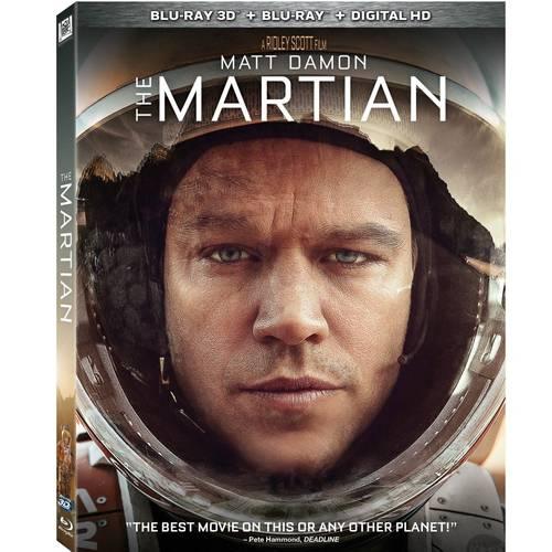 The Martian (3D Blu-ray + Blu-ray + Digital HD) (With INSTAWATCH) (Widescreen)
