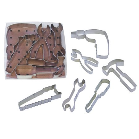 Construction Cookie Cutters (R & M International Corp. 6 Piece Tool Cookie Cutter)