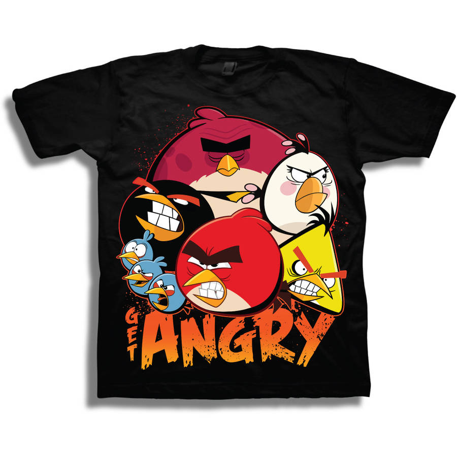 Angry Birds Boys Short Sleeve Graphic Tee T-Shirt