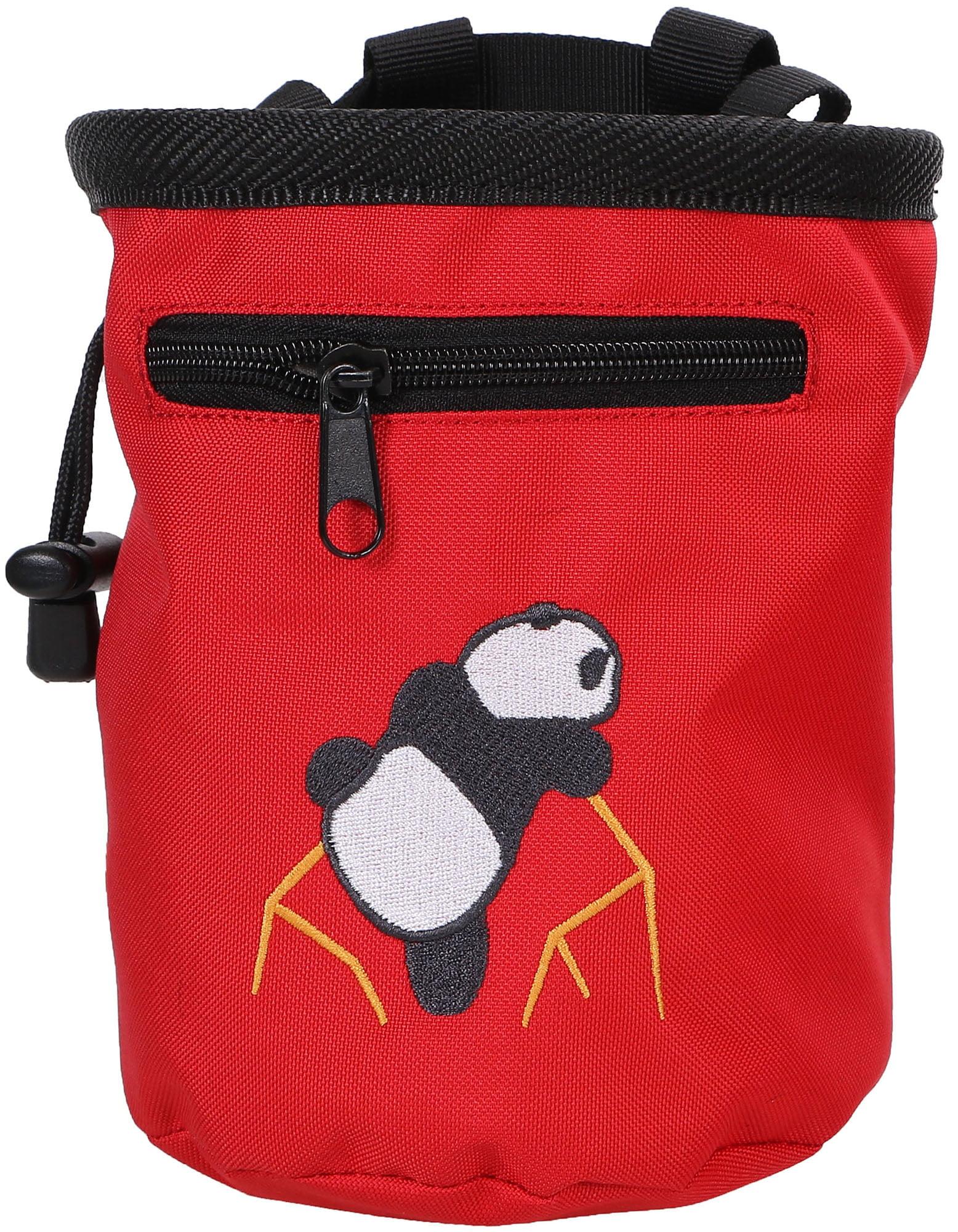 Amctm Rock Climbing Panda Bear Chalk Bag W Drawstring 7184 Red