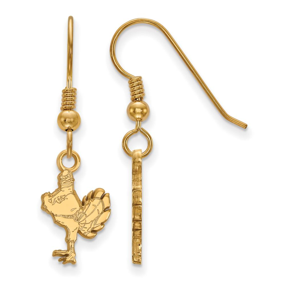 Virginia Tech Small (1/2 Inch) Dangle Earrings Wire (Gold Plated)