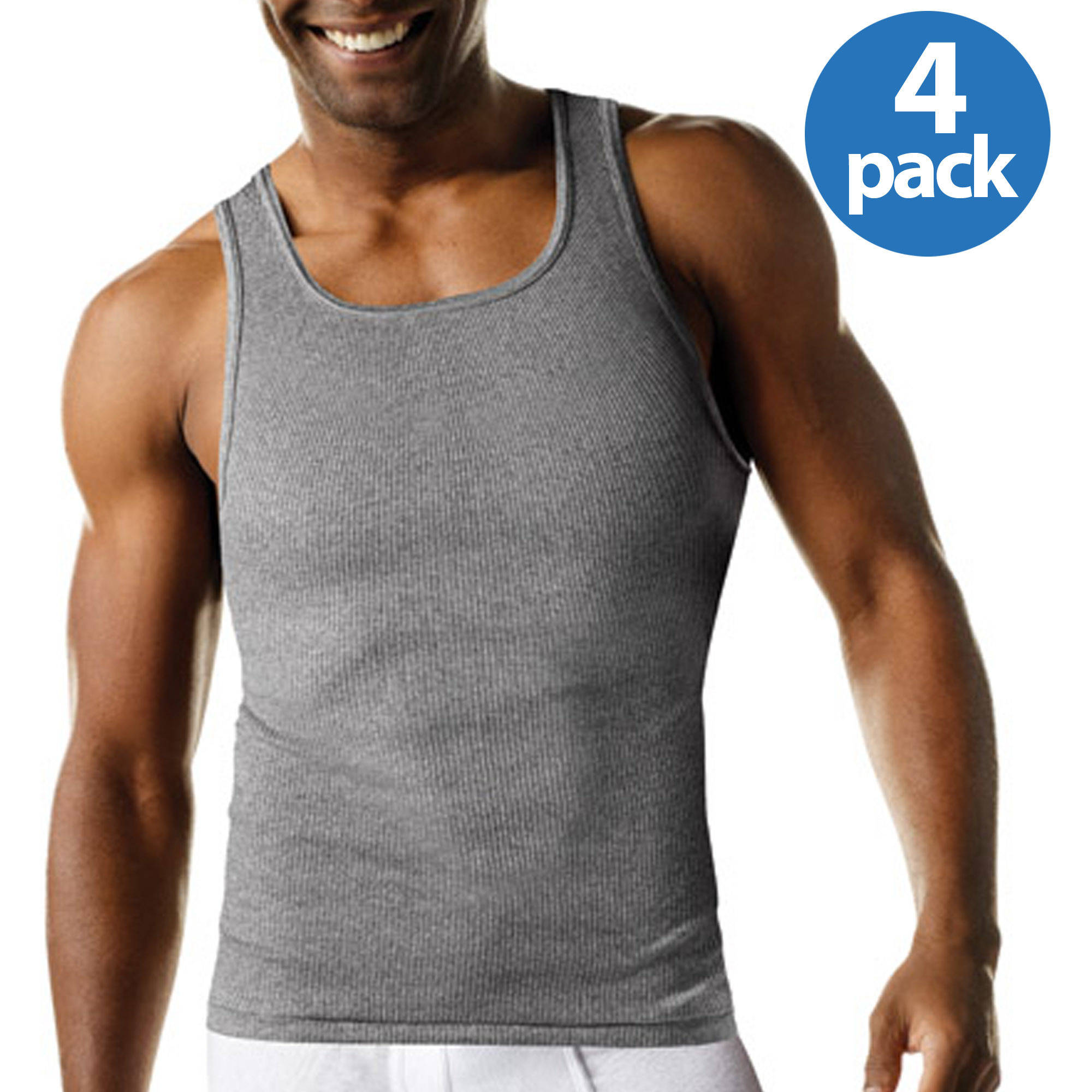Hanes Men's FreshIQ ComfortSoft Dyed Tagless Tanks 4-Pack