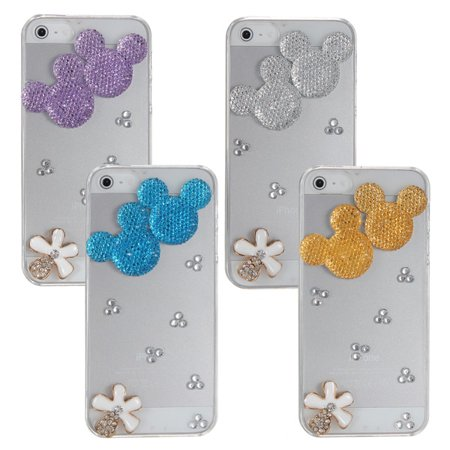 Rabbit Bunny Bling Crystal Diamond Plastic Hark Back Case Cover for case Phone 5S 5](Plastic Bling)