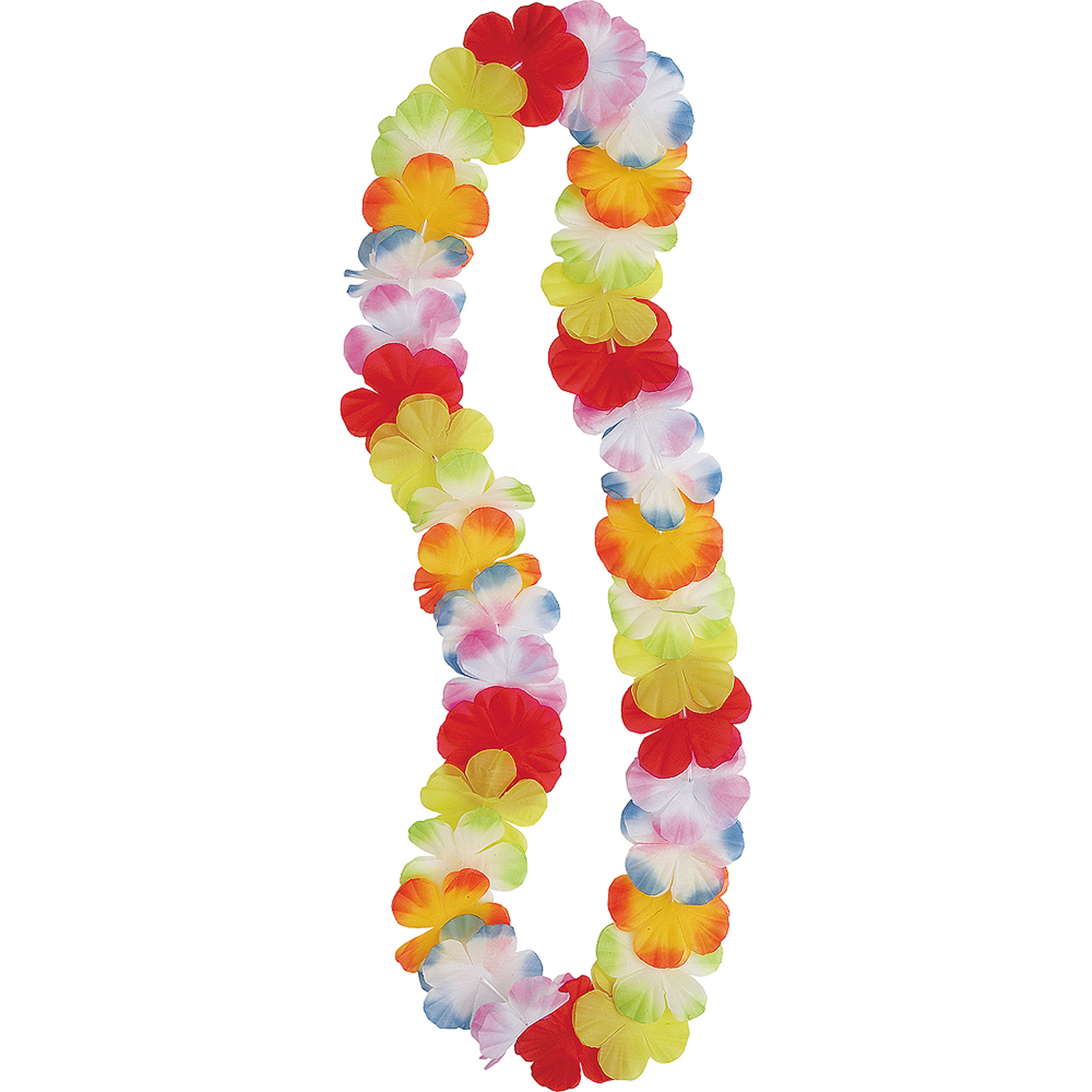 Luau Party Flower Lei, 42 in, Multicolor, 1ct