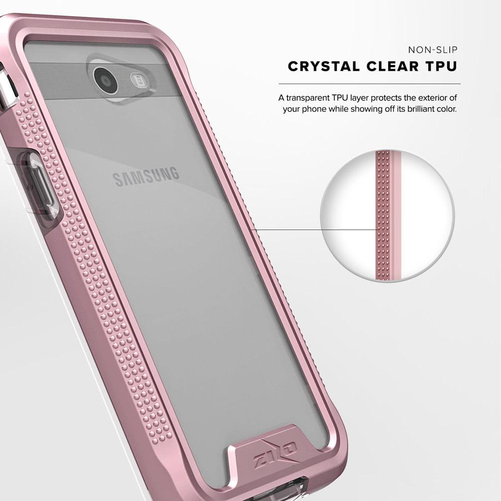 first rate 530fe c85b8 Samsung Galaxy J7 Prime Case, Zizo [ION Series] w/ [Samsung Galaxy J7 Prime  Screen Protector] Crystal Clear [Military Grade] Galaxy J7 V / Perx