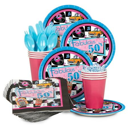 Fabulous 50's Standard Kit (Serves 8) - Party Supplies - 50's Birthday