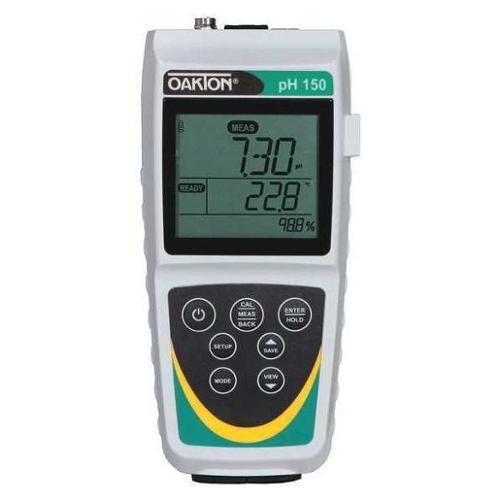 OAKTON WD-35614-32 pH Meter,LCD,-17 deg. to 230 deg.F G2423611