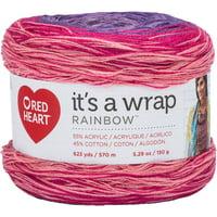 Red Heart It's A Wrap Rainbow Yarn-Parfait
