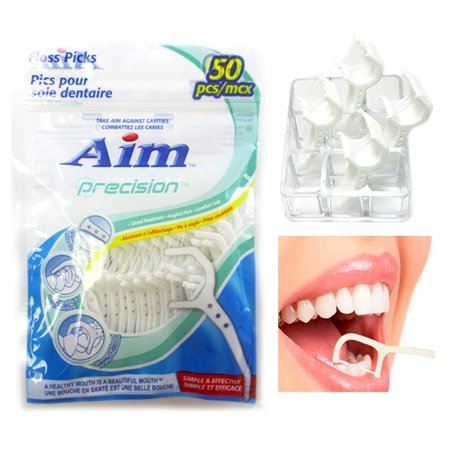 50 Dental Flossers Clean Teeth Dental Floss Brush Gums Tooth Picks Oral Care New