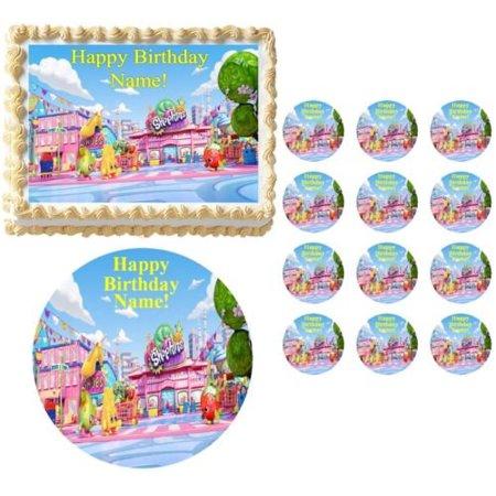 shopkins party edible cake topper image frosting sheet shopkins