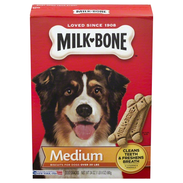 Milk-Bone Medium Dog Biscuits, 24 oz Box