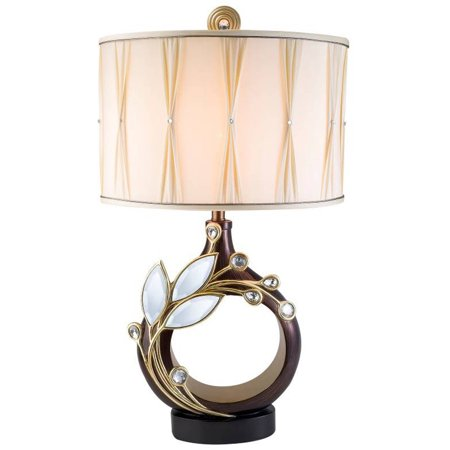 Ok Lighting Laurel Topaz Table Lamp