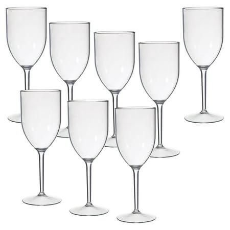 CreativeWare Acrylic Wine Glasses - 8 pc. Set